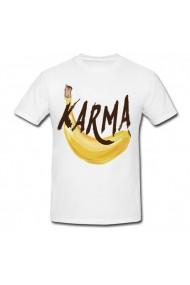 Tricou Karma alb