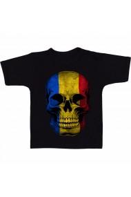 Tricou Skull - Romania negru