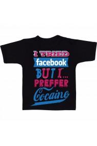 Tricou Preffer cocaine negru