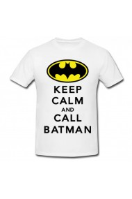 Tricou Call Batman alb