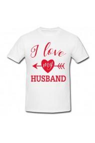 Tricou Husband alb