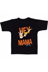 Tricou Hey mama! negru