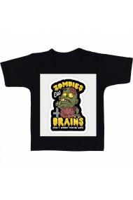 Tricou Zombis eat brain color negru