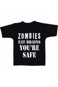 Tricou Zombis eat brain negru