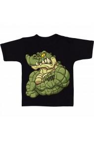 Tricou Muscular alligator negru