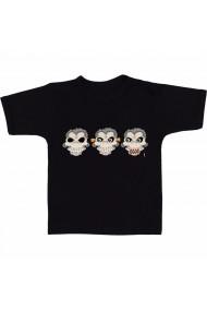 Tricou 3 maimute negru