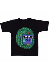 Tricou Cimpanzeu GIF negru