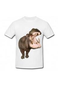 Tricou Hipopotan real alb