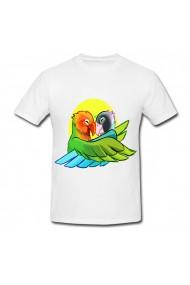 Tricou Papagali indragostiti alb
