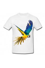 Tricou Papagal galben si albastru alb