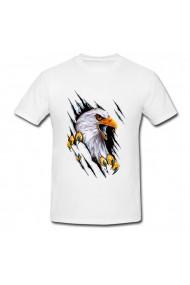 Tricou Harley Davidson Eagle logo alb