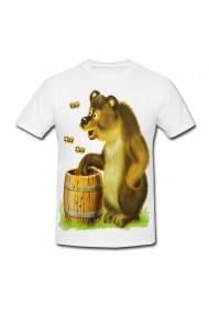 Tricou Urs la miere alb