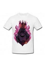 Tricou Regele urs alb
