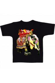 Tricou Elefant circ negru