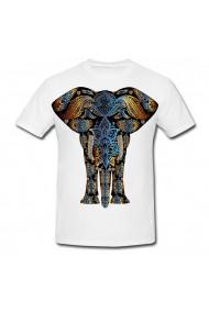 Tricou Elefant cu flori alb