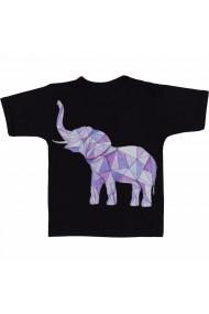 Tricou Geometric elefant negru
