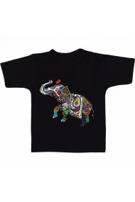 Tricou Indian elephant negru