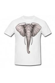 Tricou Elephant head tattoo alb
