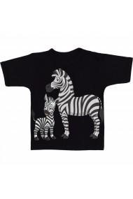 Tricou Familie de zebre negru