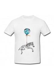 Tricou Balon zebra alb