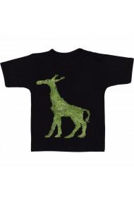 Tricou Girafa verde negru
