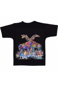 Tricou Pictura girafe negru