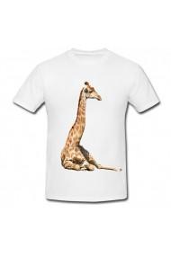 Tricou Nord giraffe alb