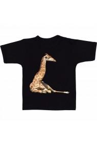 Tricou Nord giraffe negru