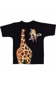 Tricou Girafa acrilica negru