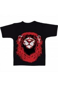 Tricou Red and black lion negru