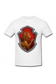Tricou Logo lion alb