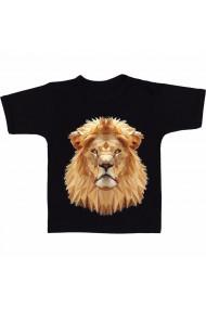 Tricou Lion polygon face negru