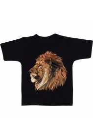 Tricou Lion head graphic negru