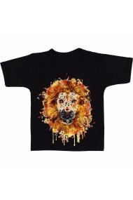 Tricou Lion art negru