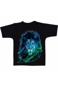 Tricou Aaron carter lion art negru