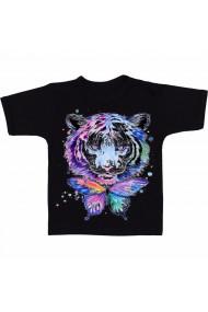 Tricou Tigru si fluture negru