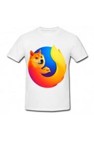 Tricou Firefox alb
