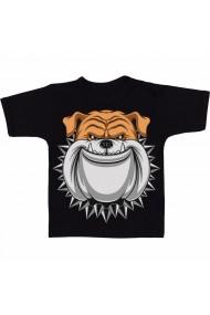 Tricou Spiked Collar Bulldog negru
