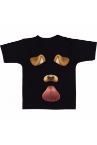 Tricou Snapchat filters negru