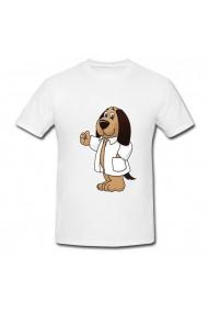 Tricou Dog doctor alb