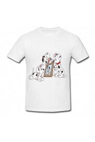 Tricou 101 dalmatieni alb
