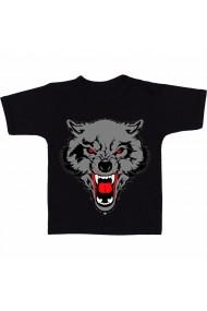 Tricou Cap de lup negru
