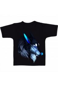 Tricou Blue wolf negru