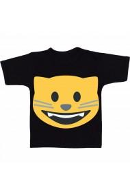 Tricou Smile Cat negru