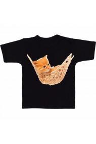 Tricou Pisica in hamac negru