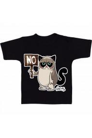 Tricou No! negru