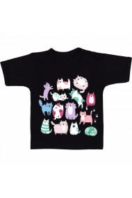 Tricou Pisici, la gramada negru