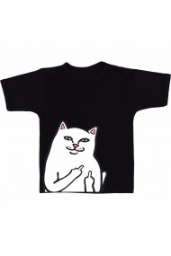 Tricou Fuck cat negru