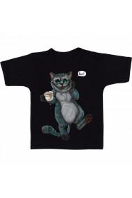 Tricou Pisica bea ceai negru