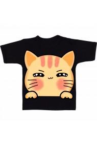 Tricou Cute cat negru